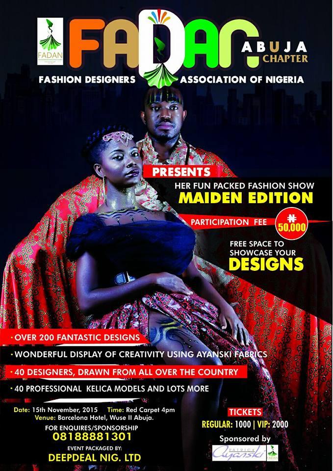 FADAN Abuja Chapter Fashion Show 2015