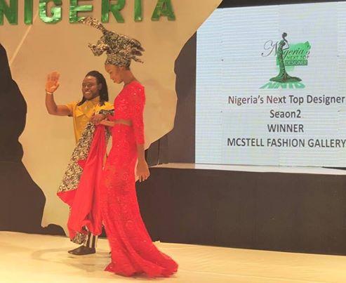 Okpa McCoy Agada Of Mcstell Fashion Gallery Emerged  Winner Of Nigeria's  Next Top Designer Season 2