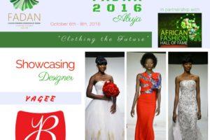 YAGEE BRIDAL FASHION Showcasing at Runway FADAN 2016