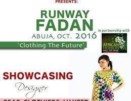 2Fafii Clothiers Limited Showcasing at Runway FADAN 2016